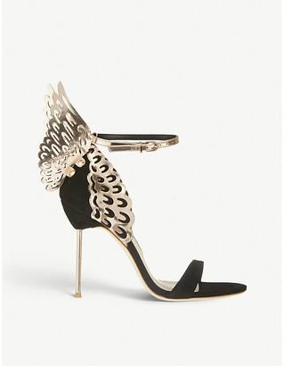 Sophia Webster Evangeline winged suede heeled sandals