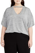 Rachel Roy Plus Size Women's Deep V Boxy Tee