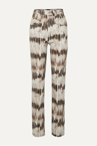 Isabel Marant Dominic Tie-dyed High-rise Straight-leg Jeans - Army green