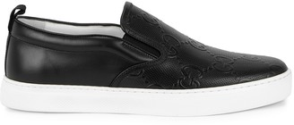 Gucci Dublin black leather sneakers