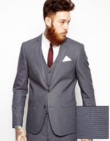 Asos Slim Fit Suit Jacket In Mini Houndstooth
