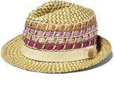 Vince Camuto Fedora with Colored Straw