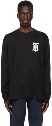 Burberry Black TB Monogram Atherton Long Sleeve T-Shirt