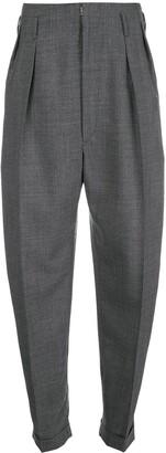 Maison Margiela High Waisted Tweed Trousers