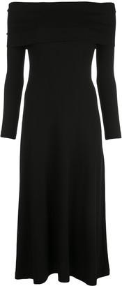 Rosetta Getty off-shoulder draped dress