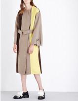 Marni Colourblock wool-blend coat