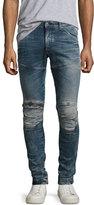 G Star G-Star 5620 Elwood 3D Super-Slim Zip Jeans, Gavi (Blue)