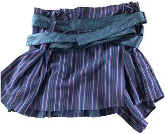 Vivienne Westwood Blue Silk Skirt for Women