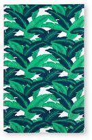 Palm Leaves Beach Towel in Green