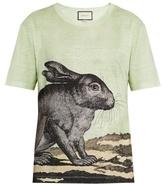 Gucci Hare-print Linen T-shirt