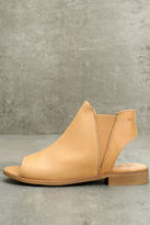 Coolway Musse & Cloud Ciara Tan Leather Peep-Toe Booties