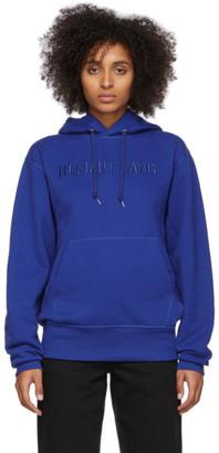 Helmut Lang Blue Standard Hoodie