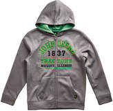 John Deere Medium Gray 'John Deere Tractors' Fleece Zip-Up Hoodie - Boys