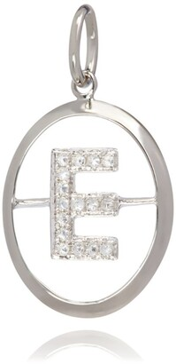 Annoushka White Gold and Diamond E Pendant
