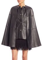 McQ by Alexander McQueen Lamb Leather Cape