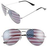 BP American Flag 60mm Aviator Sunglasses