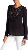 Plenty by Tracy Reese Ruffled Lace Bib Blouse