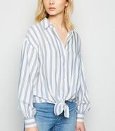 New Look Stripe Tie Front Shirt