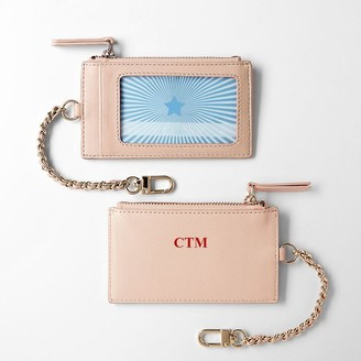 Mark & Graham Chain Strap Leather ID Card Case