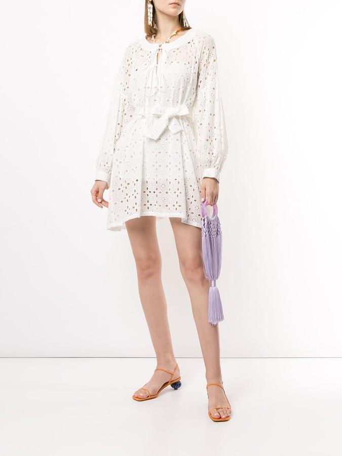 Bambah Eyelet Mini Shirt Dress