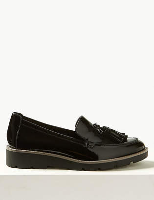 M&S CollectionMarks and Spencer Leather Flatform Cleat Sole Loafers