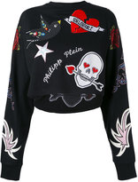 Philipp Plein appliquéd sweatshirt - women - Cotton/Modal - XS