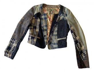 Desigual Blue Cotton Jackets