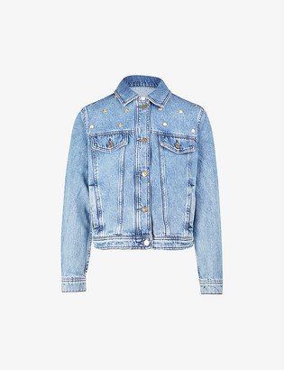 Claudie Pierlot Stud-embellished denim jacket