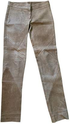 Haute Hippie Brown Suede Trousers