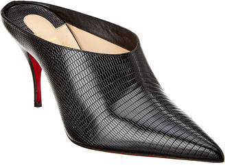 Christian Louboutin Quart 80 Reptile-Embossed Leather Mule