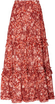 Ulla Johnson Amalia Floral-Print Cotton-Blend Midi Skirt
