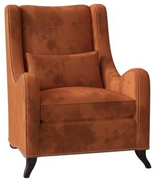 Caracole Classic Just Wing It Wingback Chair Caracole Classic Body Fabric: Tuscany Velvet, Leg Color: Tuxedo Black