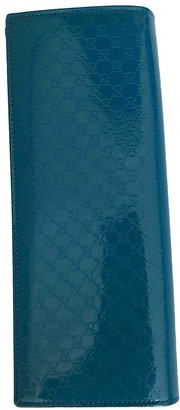 Gucci Turquoise Patent leather Clutch bags