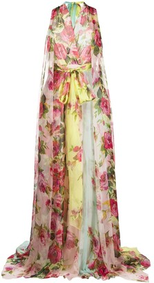 Blumarine Floral Floor-Length Gown