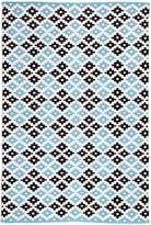 FAB Rugs Megh Cotton Rug, Blue, 120x180cm