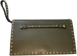Valentino Rockstud Khaki Leather Clutch bags