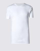 M&S Collection 2 Pack Pure Cotton Crew Neck Vests