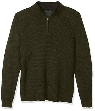 Pendleton Men's Shetland Half Zip Cardigan Sweater
