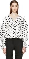 Jacquemus White and Black La Chemise Boutons Shirt