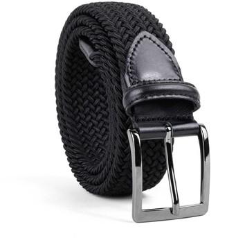 Dalgado Braided Viscose Belt Black Bruno