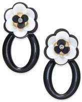 Kate Spade Gold-Tone Crystal Accent Flower Drop Earrings