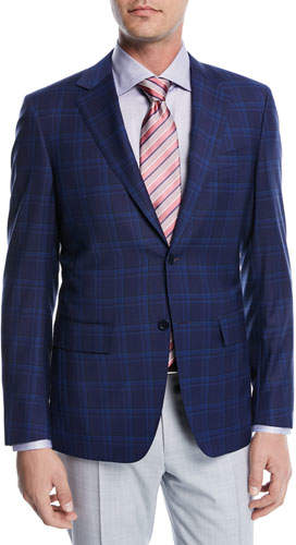 Canali Super 130s Plaid Wool Blazer