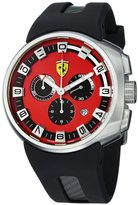 Ferrari Men's FE-10-ACC-CG/FC-RD Black Rubber Analog Quartz Watch with Dial