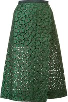Sacai guipure lace midi skirt