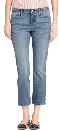 Tommy Hilfiger Women's Modern Fit Crop- Dark Wash