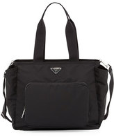 Prada Vela Nylon Baby Bag, Black (Nero)