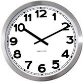 Karlsson Numbers Steel Polished Wall Clock