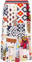 Tory Burch Jada Printed Jersey Midi Skirt - Ivory