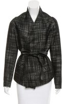 Zero Maria Cornejo Metallic-Accented Wool Jacket