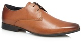 Red Herring Tan Burnished Leather Derby Shoes